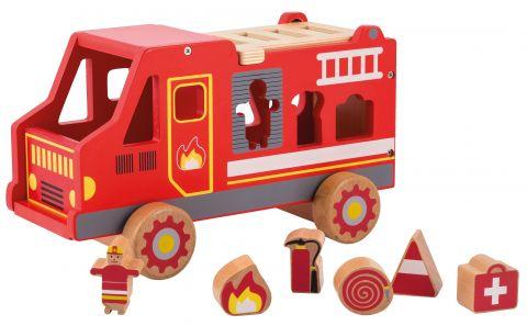 Joueco Drewniany wóz strażacki