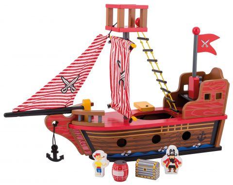 Joueco Drewniany statek piracki