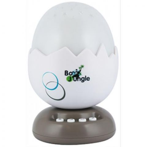 Bo Jungle B-Egg lampka nocna z projektorem i muzyką beżowa