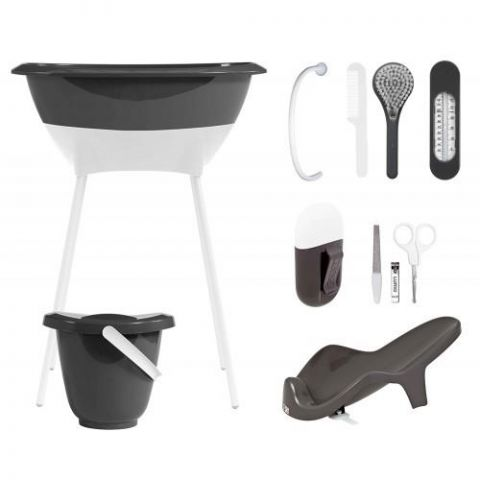 Zestaw kąpielowy 8 elementów LUMA Dark Grey