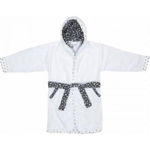 biały bawełniany szlafrok dla 2latka
