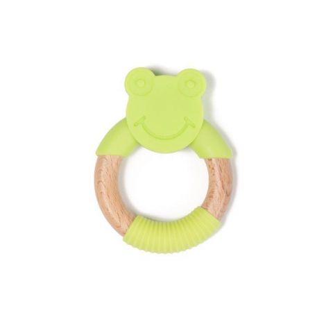 Bo Jungle B-Gryzak drewniano-silikonowy Animals Green Frog
