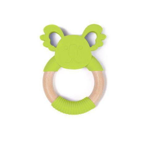 Bo Jungle B-Gryzak drewniano-silikonowy Animals Green Koala