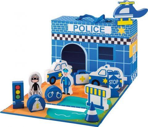 Joueco Drewniany posterunek policji 13 elementów