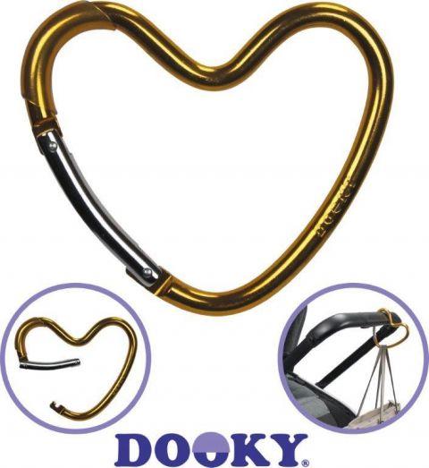 Dooky Hak/zaczep do wózka serce