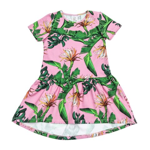 Popinjay Sukienka Pink Jungle ALEOSA krótki 80/86