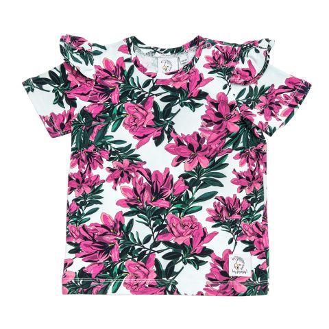Popinjay T-shirt z falbankami Floral 128/134