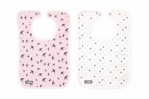 LUMA Śliniaczki 2-pack Pretty Pink