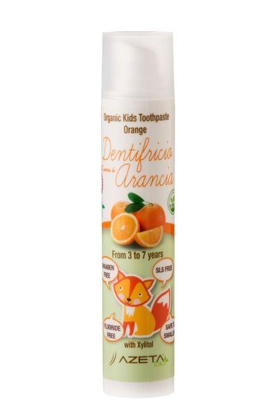 Azeta Bio Organiczna pasta do zębów pomarańcza 3-7