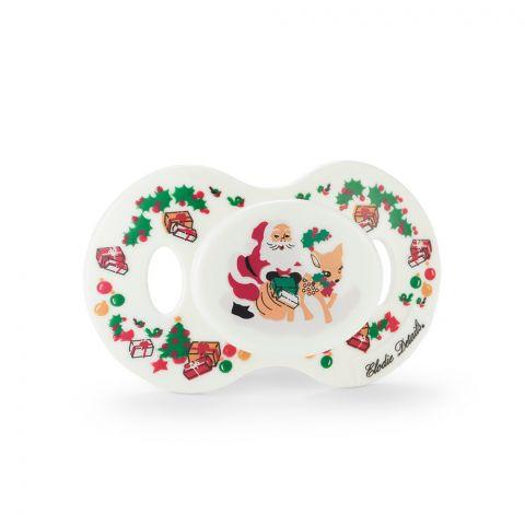 smoczek silikonowy dla niemowląt w świątecznym stylu