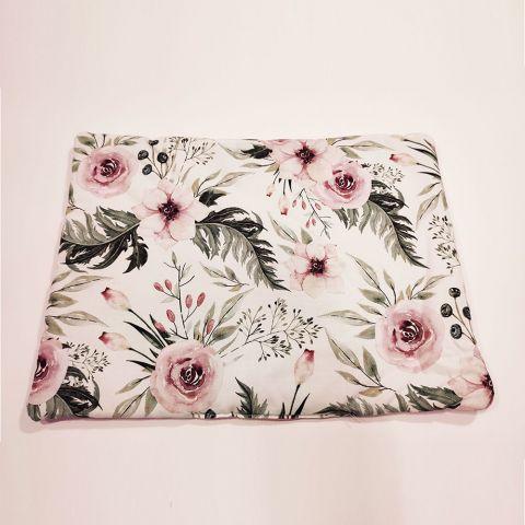 Pol Owl Poduszka płaska 40x30 Blossom velvet pink