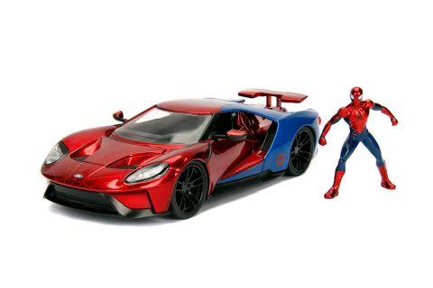 Jada Toys Auto kolekcjonerskie 1:24 Ford GT wraz z figurką Spiderman'a