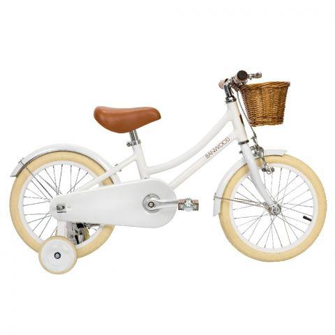 rowerek dla dziewczynki z koszyczkiem biały Banwood