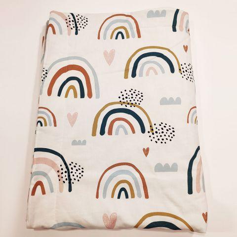 Pol Owl Kocyk light 75x100 Pastel Rainbow Velvet Grey