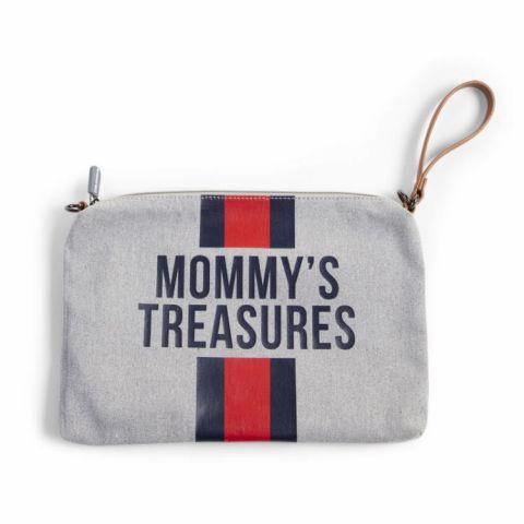 Childhome Torebka Mommy's Treasures Paski Granat