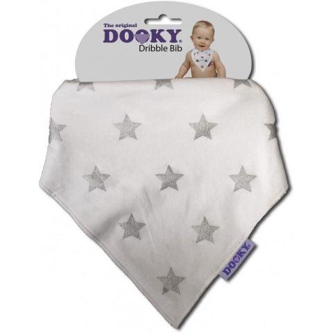 Dooky - chustka, śliniak Dribble Bib - Silver Star
