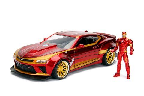 Jada Toys Auto kolekcjonerskie 1:24 Camaro SS oraz figurka Iron Man