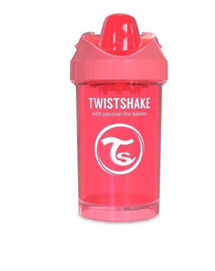 Twistshake - Kubek niekapek z mikserem brzoskwiniowy