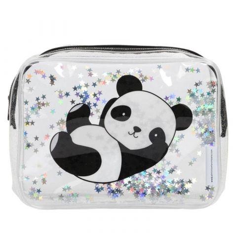 A Little Lovely Company Lśniąca kosmetyczka Glitter Panda