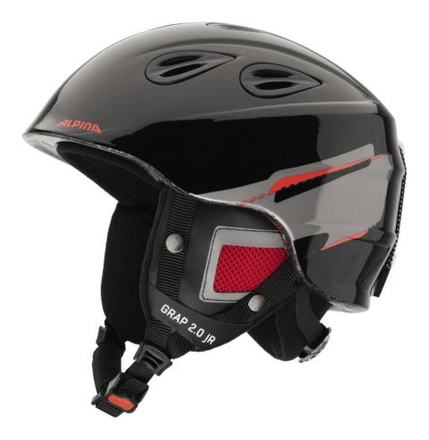 Alpina Kask Zimowy GRAP 2.0 Junior Black-Red 54-57