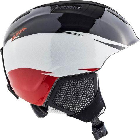 Alpina Kask zimowy CARAT LX Black-White-Red 51-55