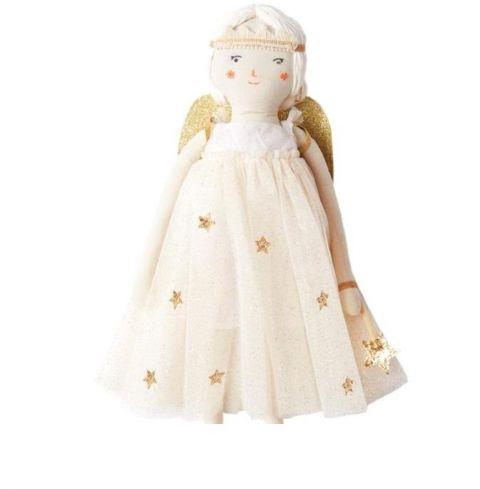 Meri Meri laleczka z materiału 40 cm miękka ze zdejmowanym ubrankiem