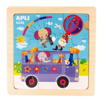 Apli Kids Drewniane puzzle Autobus 3+
