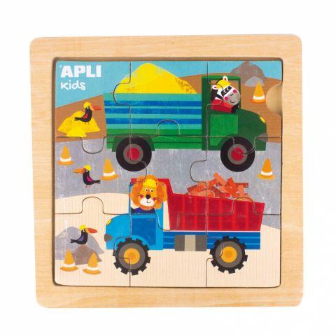 Apli Kids Drewniane puzzle Ciężarówka 3+
