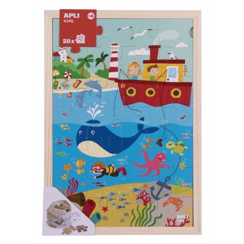 Apli Kids Drewniane puzzle w ramce Ocean 4+