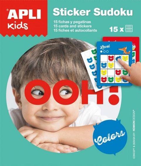 Apli Kids Gra podróżna z naklejkami Sudoku kolory