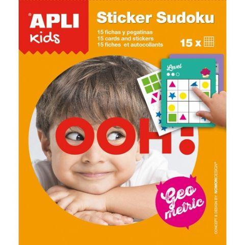 Apli Kids Gra podróżna z naklejkami Sudoku kształty