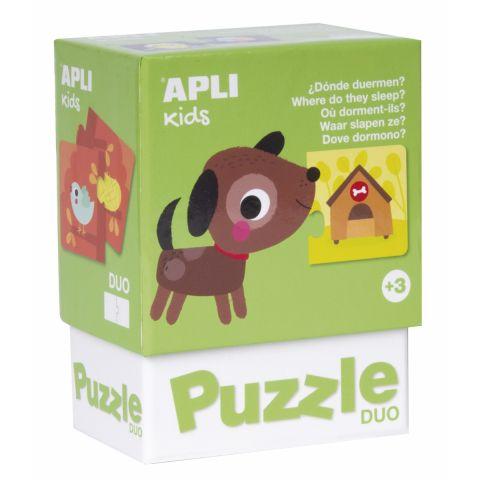 Apli Kids Puzzle dla dzieci Gdzie mieszkają zwierzątka