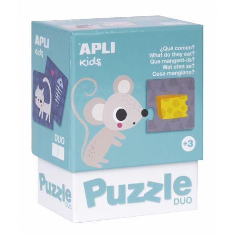 Apli Kids Puzzle dla najmłodszych dzieci Co jedzą zwierzątka