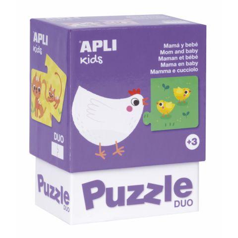 Apli Kids Puzzle dla trzylatka Mamy i ich dzieci
