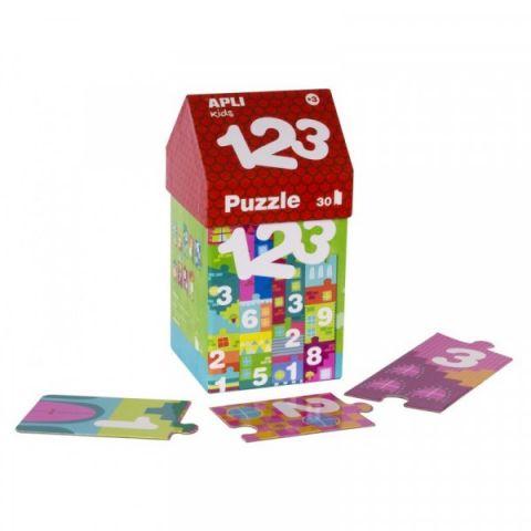 Apli Kids Puzzle w kartonowym domku Cyfry 3+