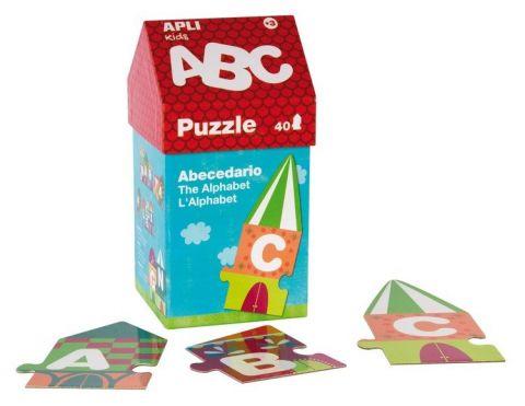 Apli Kids Puzzle w kartonowym domku Litery 3+