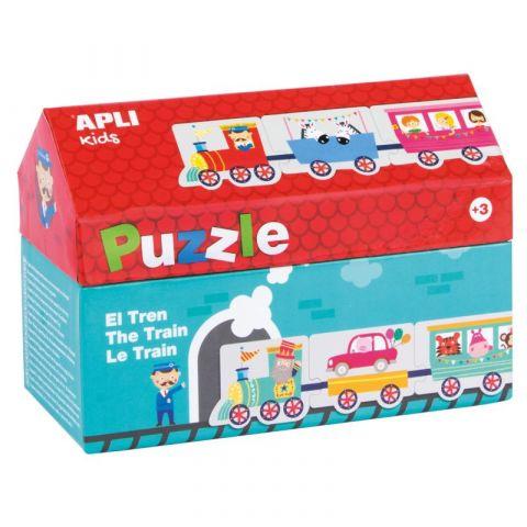 Apli Kids Puzzle w kartonowym domku Pociąg 3+