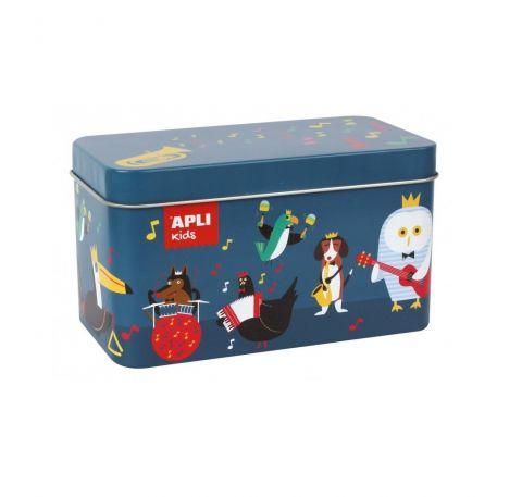 Apli Kids Puzzle w metalowym pudełku Instrumenty