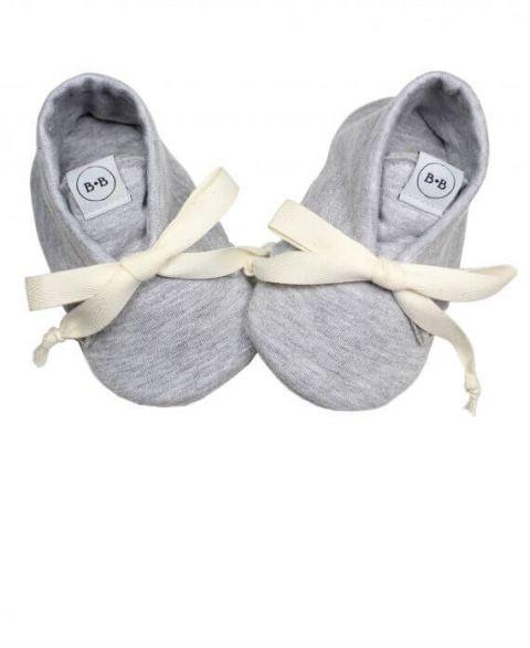 Baby Bisous Buciki niemowlęce Cool Grey