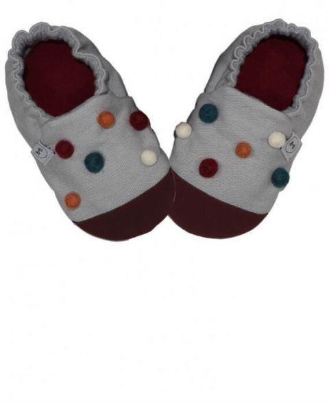 Baby Bisous Slippers Marble Grey Bubbles