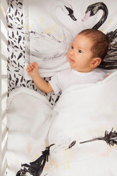 Baby Steps kocyk średniaka + poduszka Swan