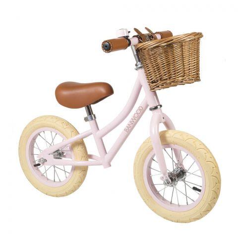 Banwood FIRST GO! rowerek biegowy pink - regulacja kierownicy oraz siedziska