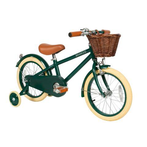 Stylowy rowerek dziecięcy z koszyczkiem Banwood Classic Green