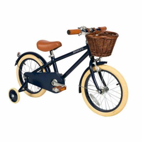 Rower dziecięcy z koszyczkiem Banwood Classic Navy Blue