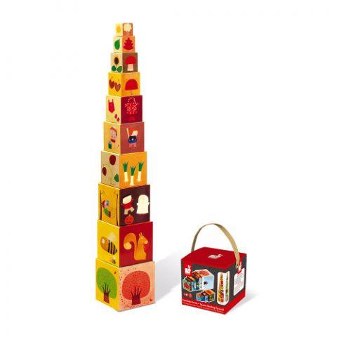 pudełko i piramidka klocki janod