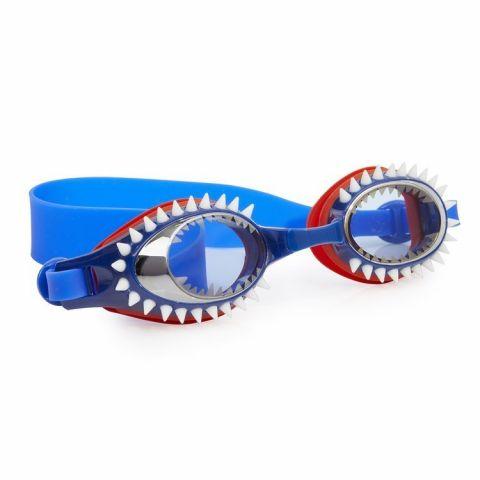 Bling2o Okularki do pływania dla chłopców rekin niebieskie