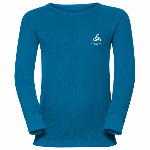 Koszulka ODLO crew neck Warm Kids BLUE 128