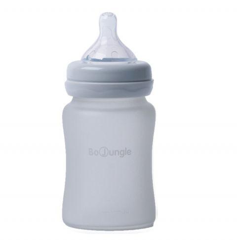 Bo Jungle B-Thermo butelka szklana dla niemowląt 150 ml Szara