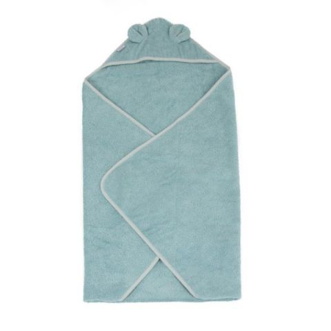 Bo Jungle Ręcznik kąpielowy dla maluszka z kapturkiem błękitny