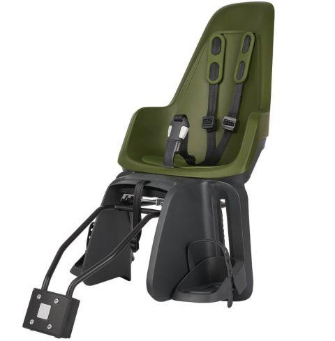 Fotelik rowerowy Bobike ONE Maxi na ramę i bagażnik Olive Green